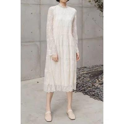 2020春款百搭蕾丝连衣裙|蕾丝衫
