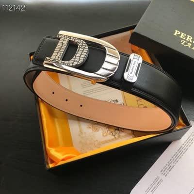 20新款商务休闲男士牛皮平滑扣皮带 搭配精致钢扣时尚百搭款男腰带