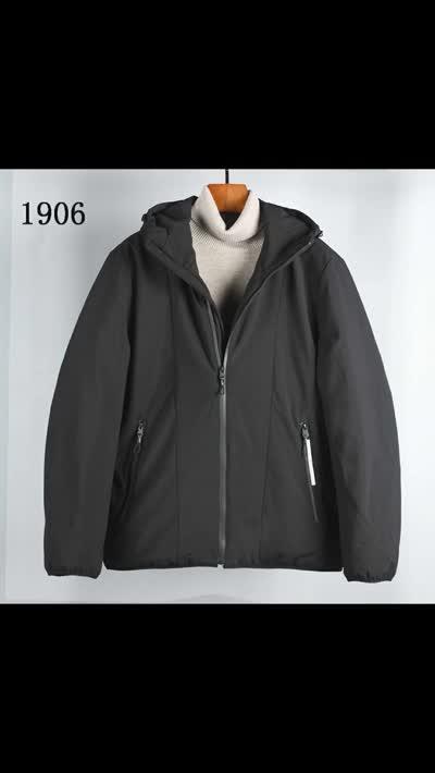 2019冬季新款羽绒服男短款款原创设计商务修身白鸭绒外套现货批发