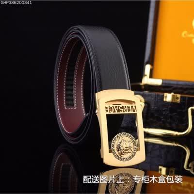 新款商务休闲男士牛皮自动扣皮带 搭配精致钢扣时尚百搭款男腰带