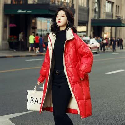6334立领冬装90绒白鸭绒韩版中长款羽绒服女常规通勤长袖立领拉链