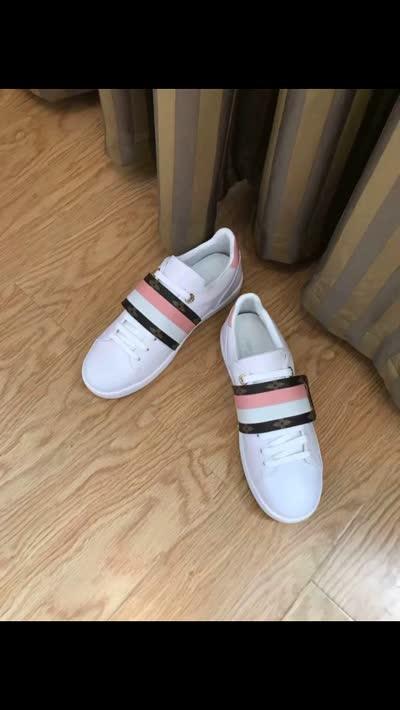 L.V女士休闲运动鞋女鞋 原单货 外牛皮里羊皮 双十二特价