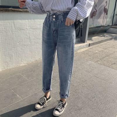 独家定制 春装新款高腰牛仔裤