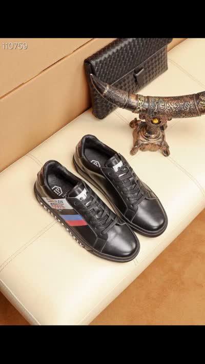 新款潮流男士牛皮休闲鞋 原版橡胶大底羊皮内里套脚鞋时尚豆豆鞋运动鞋皮鞋