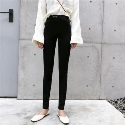 货号8315#,实拍牛仔基础百搭黑色外穿打底裤女铅笔紧身小脚长裤
