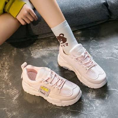 货号C25#,超火的老爹鞋女2020春季新款ins街拍增高休闲鞋百搭学生运动鞋女