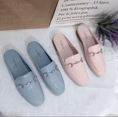 广州雅诗森鞋业2020春款半托软牛漆皮