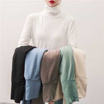货号67735#,实拍 春装高领打底衫女洋气小衫内搭修身百搭长袖t恤女上衣