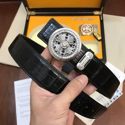 498590配高端双扣木箱包装,爆款 时来运转 系皮带精品钻扣,逼真进口牛皮鳄鱼纹