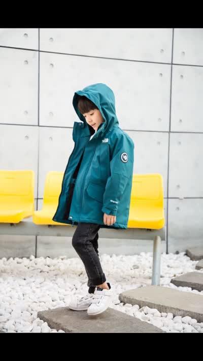 北面大童120-170碼兒童戶外加厚加棉內里專業沖鋒衣大寶寶的福音來啦yyj