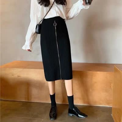 SH-705拉链款针织包裙
