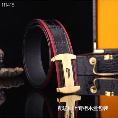 新款爆款男士真皮腰带 进口意大利牛皮 316材质钢扣纳米电镀扣头男皮带 宽3.8cm