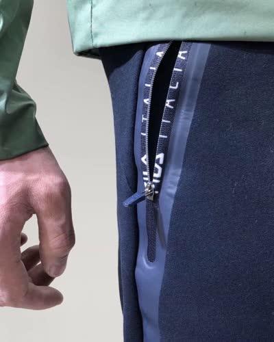 19年最新款加绒加厚撞色拉链松紧抽绳收口卫裤青年男士修身小脚裤