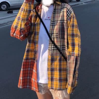 高版本 20S巴宝莉 复古格纹拼接衬衫(情侣款)采用益达顶级府绸面料,手感柔软!