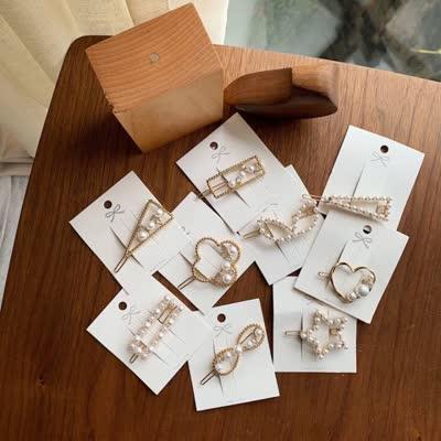 intfeday 珍珠发夹 九款都美 今年的复古风刮的太猛
