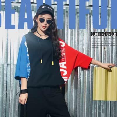 潮牌女装时尚衬衣女2020春季新款韩版潮牌宽松街舞嘻哈网红同款