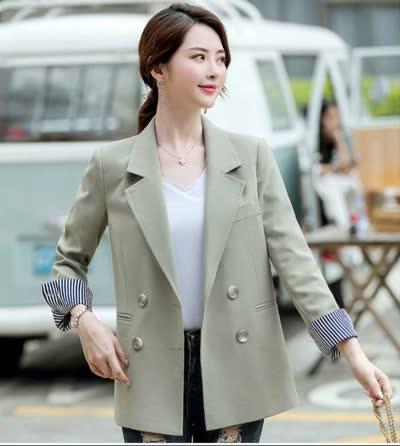网红气质小西装外套女2019秋装新款韩版显瘦女士休闲英伦风西服潮
