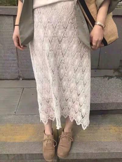 intfeday 百搭蕾丝半身裙 均码  ( 80~130 )