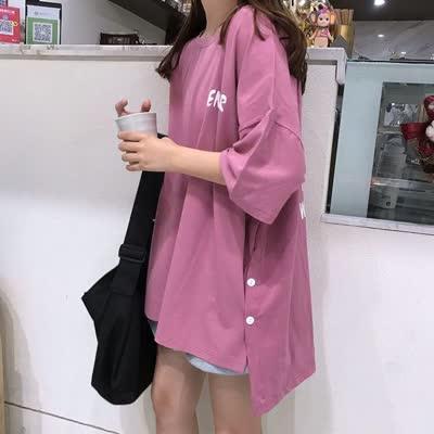 货号69368  #,实拍~夏装 网红港风大版潮短袖t恤女宽松百搭丧系