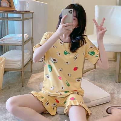 夏季可短袖睡衣家居服少女套装学生宿舍休闲装