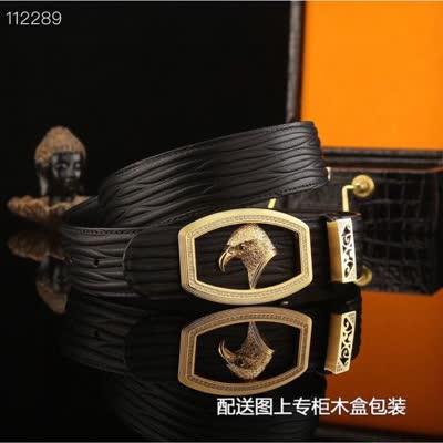 20新款商务休闲男士平滑扣皮带 搭配精致钢扣时尚百搭款男腰带