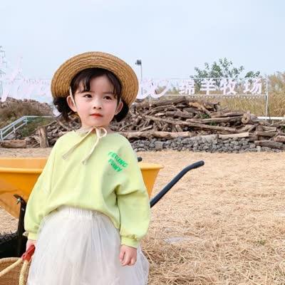 春装2020新款拼缝儿童打底衫女童韩版长袖体恤打底
