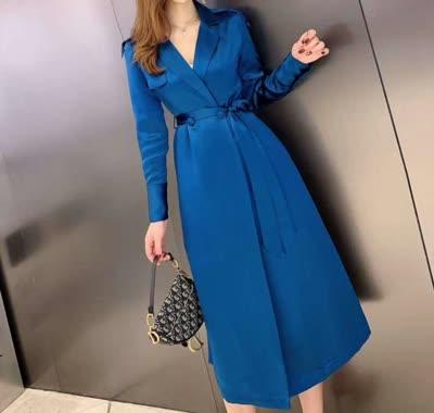 艾丽丝爆款醋酸风衣连衣裙