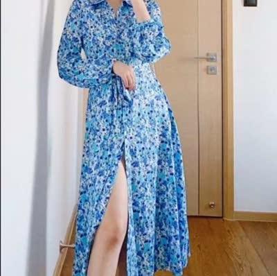 艾丽丝早春新款印花连衣裙