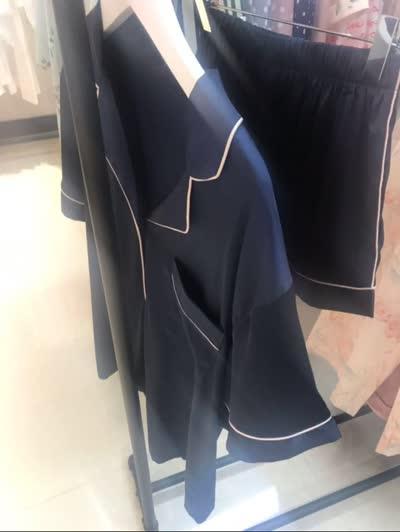 丝绸睡衣女春夏冰丝家居服套装短袖短裤仿真丝家居服套装厂家直销