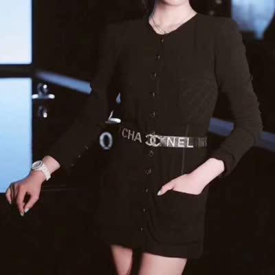艾丽丝新款修身经典小黑外套