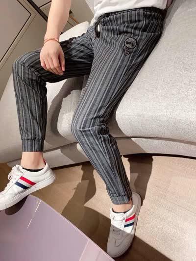 高品质男裤 2020新款潮男青少年男士休闲裤长裤卫裤运动裤松紧带系带裤弹力裤