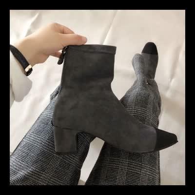秒杀,韩国小香风短靴,高跟5公分,偏小一码,特价商品不退换
