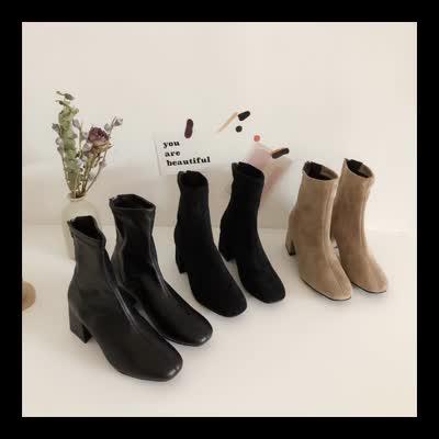 秒杀韩国靴,偏小一码,跟高6公分左右,特价商品不退换