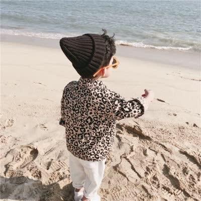 2019春季新品童装韩版宝宝豹纹衬衣儿童帅气长袖上衣潮