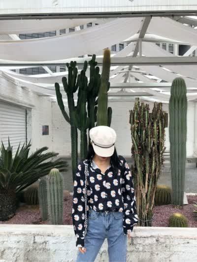 【U.DA优搭】时尚潮流百搭小雏菊印花衬衫  YD230#