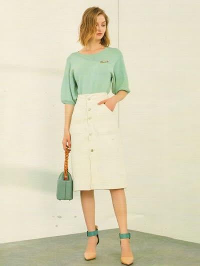 2020春装新款【简约风情】淑女气质圆领显瘦纯色套头针织衫