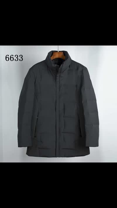 2019冬季新款羽绒服男中长款原创设计商务修身白鸭绒外套现货批发