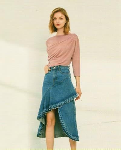 2020春季新款【简约风情】淑女气质一字领显瘦纯色套头针织衫