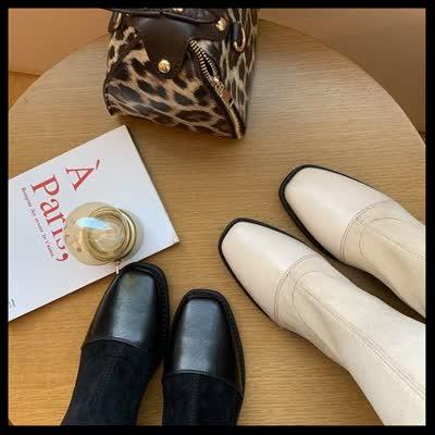 货号6262-2#,长筒靴女过膝长靴女2019新款冬加绒显瘦弹力靴粗跟网红超长高筒靴,¥105,尺
