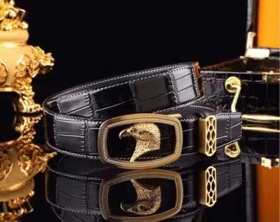 20精品商务休闲男士牛皮自动扣皮带 搭配精致钢扣时尚百搭款男腰带