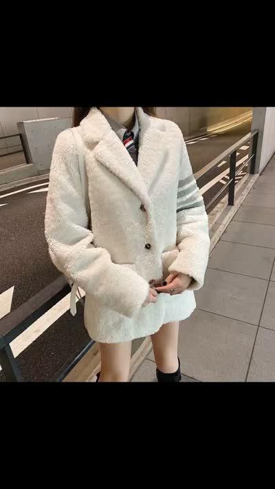 2952#原标 TB外套 毛毛西装外套