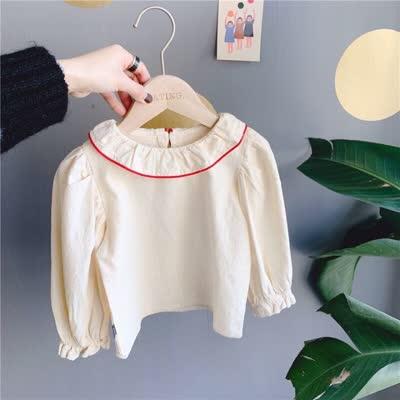 80-130 韩版泡泡袖衬衫白色