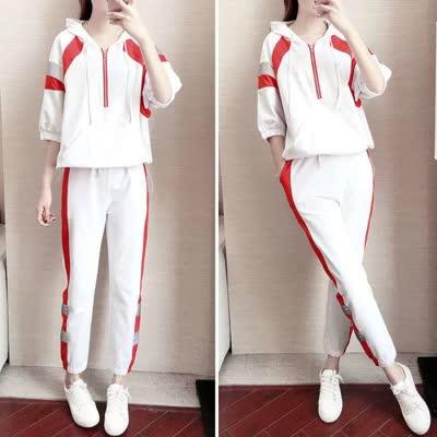 广场舞运动套装女休闲时尚简约宽松韩版长袖曳步舞两件套潮8132