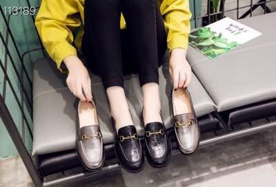 5289-6新款上  复古英伦风小皮鞋  低跟网红鞋子超火洛丽塔单鞋 材质:大皮
