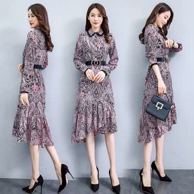 连衣裙2020年春季流显瘦收腰宽松时尚潮